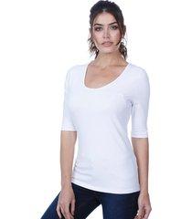 blusa javali malha cotton branca