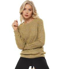 sweater tentation cierres amarillo - calce regular