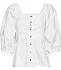 puff sleeve shirt blouse lange mouwen wit ganni