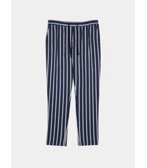 pantalón azul rayas