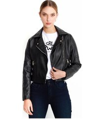 chaqueta para mujer en pu color-negro-talla-xxs