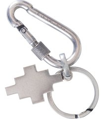 marcelo burlon cross snap-hoop key chain