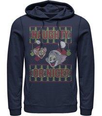 men's tom jerry naughty or nice hoodie
