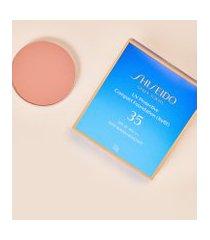 amaro feminino shiseido protetor solar facial compacto fps35 refil uv protective compact foundation - 12g, light beige