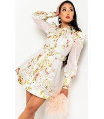akira another life long sleeve button down mini dress