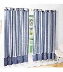 cortina 2 metros skyline azul listras com 1 peã§as - valle enxovais - azul - dafiti