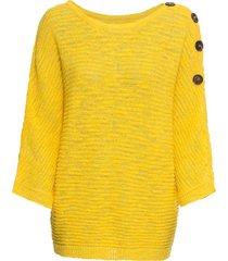 maglione con bottoni (giallo) - bodyflirt