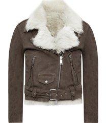 'luna' leather biker jacket
