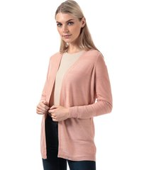 vero moda womens bobbie open cardigan size 12 in pink