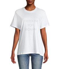 iro women's freedom for woman cotton tee - white - size 34 (2)