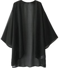 kimono in chiffon tinta unita
