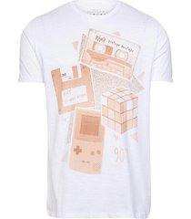 camiseta masculina ãcones anos 90branco - branco - masculino - dafiti