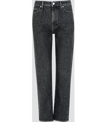 mom fit straight jeans - svart