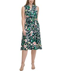 tommy hilfiger plus size floral-print jersey midi dress