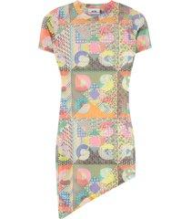 gcds asymmetric tulle dress