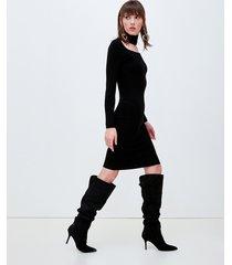 motivi vestito a tubino in maglia donna nero
