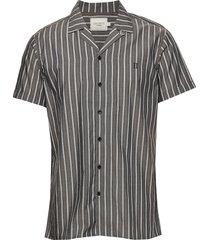 mathieu ss shirt overhemd met korte mouwen blauw les deux