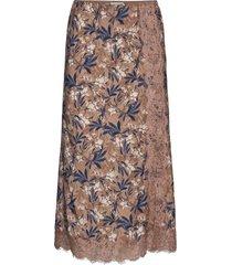 skirt knälång kjol brun rosemunde