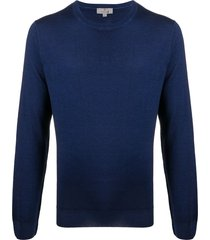 canali slim-fit crew-neck pullover - blue