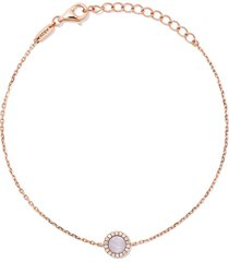 as29 18kt rose gold miami round pearl and diamond bracelet