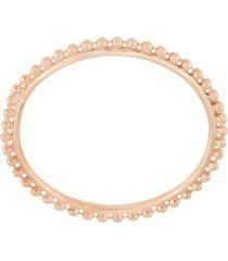natalie marie 9kt rose gold full dot ring - pink