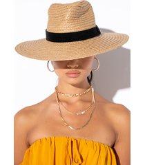 akira summer 21 straw brim hat