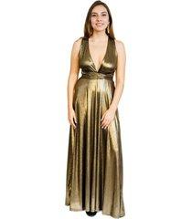 vestido multiforma fiesta dorado envejecido natalia seguel