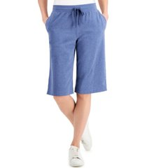 karen scott knit skimmer shorts, in regular & petite, created for macy's