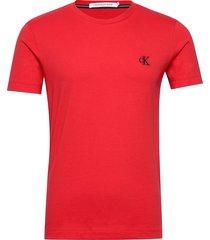 ck essential slim tee t-shirts short-sleeved röd calvin klein jeans