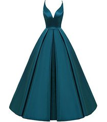 lemai backless deep v neck simple long a line prom gowns evening dresses teal us
