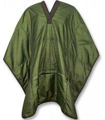 manta poncho puelche adulto verde atakama outdoor