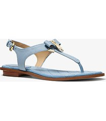 mk sandalo alice in pelle saffiano - blu pallido (blu) - michael kors