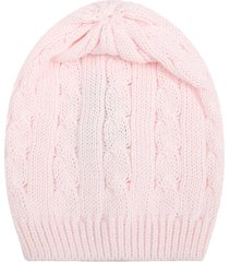 little bear pink hat for babygirl