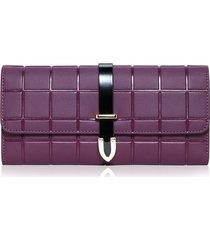 billetera mujeres- cartera de embrague de la-púrpura