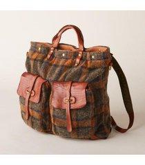campomaggi women's tartan backpack by sundance in brown mult