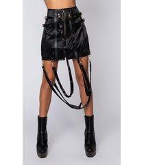 akira little do you know satin mini skirt