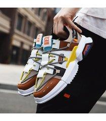 zapatos de plataforma transpirable de malla