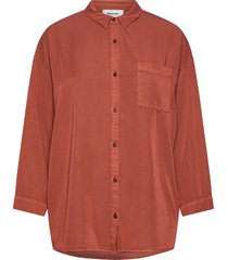 colin shirt blus långärmad röd modström