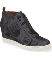 women's linea paolo 'felicia' wedge sneaker, size 10 m - black