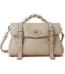 mulberry alexa leather satchel - beige