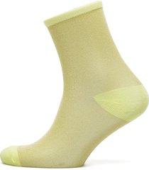 dina solid coll. lingerie hosiery socks gul becksöndergaard