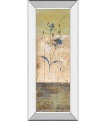 """classy art kimono i by loretta linza mirror framed print wall art - 18"""" x 42"""""""