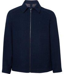 jaqueta dudalina clássica lã masculina (azul marinho, xgg)
