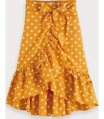 scotch & soda polka dot wrap skirt