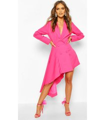 boohoo occasion double breasted blazer dress, hot pink