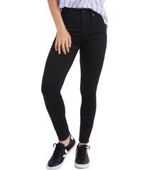 women's madewell curvy high waist skinny jeans, size 30 - black