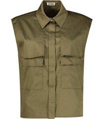 sleeveless cargo blouse