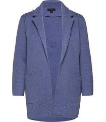 sophie open-front sweater blazer stickad tröja cardigan blå j.crew