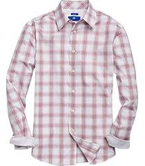 egara raspberry plaid sport shirt