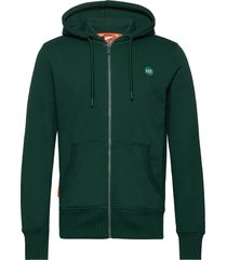 collective zip hood hoodie trui groen superdry